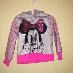BNWOT Minnie Mouse zip up jacket.
